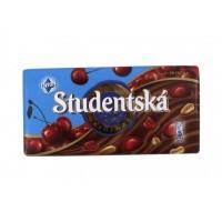 Молочный шоколад STUDENTSKA PECET с вишней, 180 гр