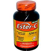 Эстер-С, Витамин С, Ester-C,  American Health, 500 мг, 120 капсул