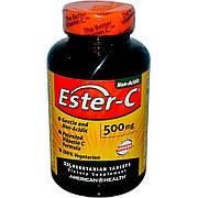 Эстер-С, Витамин С, Ester-C, American Health, 500 мг, 225 таблеток