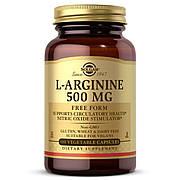 L-Аргинин 500 мг, L-Arginine, Solgar, 100 вегетарианских капсул
