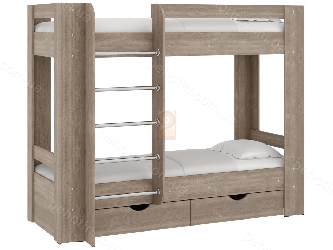 Детская двухэтажная кровать трюфель