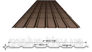 Металлочерепица Ruukki Decorrey Полиэстр матовый 0,45 мм (Ruukki 20), фото 3