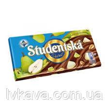 Молочный шоколад STUDENTSKA PECET с грушей, 180 гр, фото 2