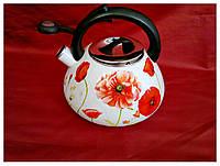 Чайник эмалированный со свистком 3 л