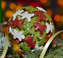 Елочная игрушка шар Человечки 3D SKL11-209591