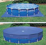 Сборно-разборной круглый каркасный бассейн Intex 28242 NP ( 457*122 см ) + лестница, тент, подстилка, фильтр, фото 3