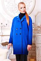 Женское пальто оверсайз с градиентным принтом синего цвета, фото 1