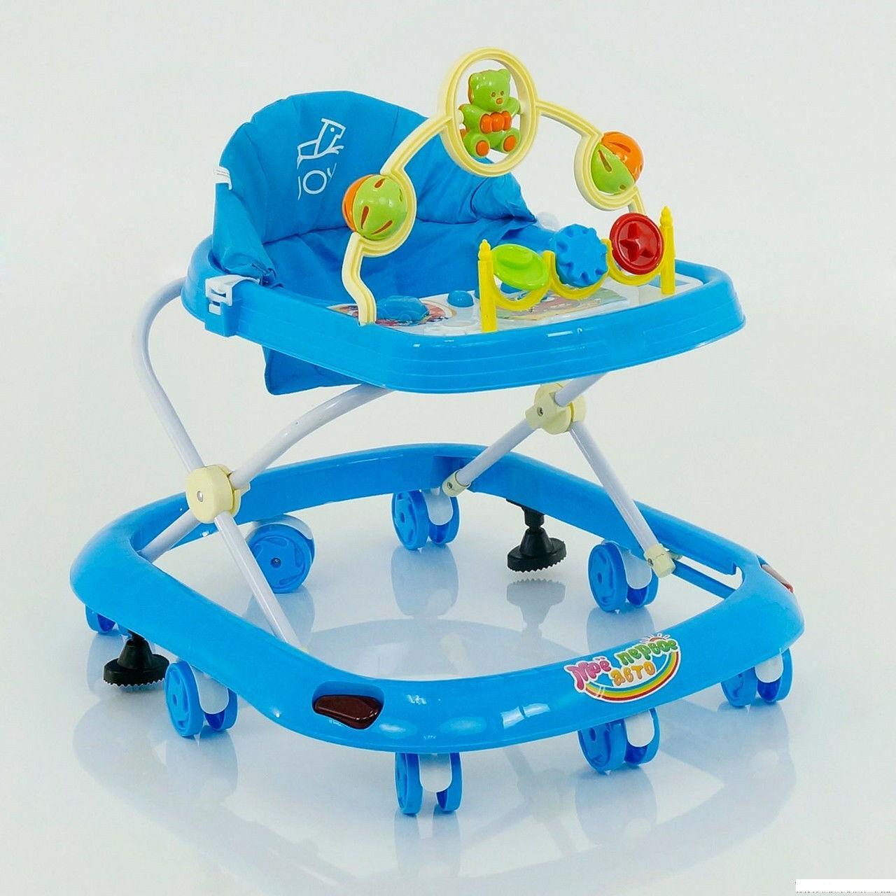 Детские музыкальные ходунки модель 258 (голубой)