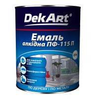 Эмаль алкидная DekArt ПФ-115П (0.9кг) Белая глянцевая