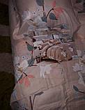 Байковый  комплект постельного белья Байка ( фланель)   Листья, фото 3
