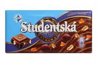 Черный шоколад STUDENTSKA PECET с изюмом, 180 гр