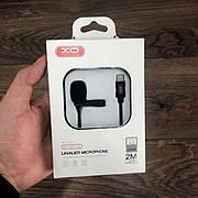 Микрофон петличка XO-MKF 02 type c для телефона смартфона планшета петличный внешний блогера записи звука