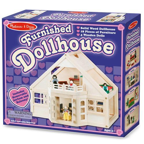 Дитячий мебльований ляльковий будиночок Melissa&Doug