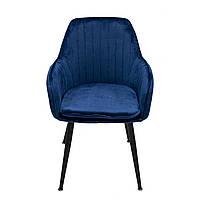 Кресло мягкое Интарсио VERONA тёмно-синий