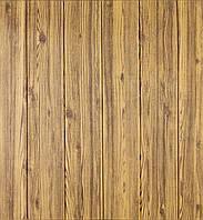 3D панелі Самоклеючі Дерево кольору золото 700х700х6мм