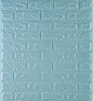 3D панелі Самоклеючі Бірюзовий цегла 700х770х7мм