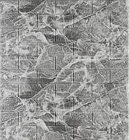 3D панелі Самоклеючі Цегла чорний мармур 700х770х5мм