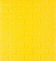 3D панелі Самоклеючі Жовта цегла 700х770х7мм