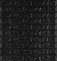 3D панелі Самоклеючі Чорний цегла 700х770х7мм