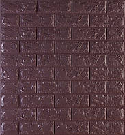 3D панелі Самоклеючі Цегла кави 700х770х7мм