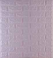 3D панелі Самоклеючі Світло-фіолетовий цегла 700х770х7мм