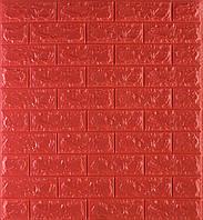 3D панелі Самоклеючі Червона цегла 700х770х7мм