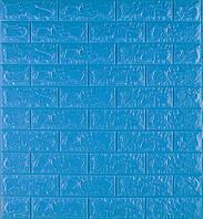 3D панелі Самоклеючі Синій цегла 700х770х7мм