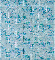 3D панелі Самоклеючі Цегла блакитний мармур 700х770х5мм