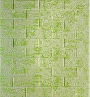 3D панелі Самоклеючі Цегла салатовий мармур 700х770х5мм