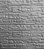3D панелі Самоклеючі Рвана цегла сірий 700х770х8мм