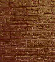 3D панелі Самоклеючі Рвана цегла коричневий 700х770х8мм