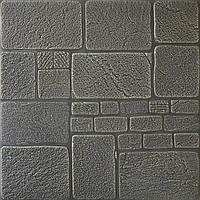 3D панелі Самоклеючі Сірий камінь 700х770х8мм
