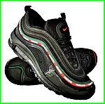 Кросівки N!ke Air Max 97 Чорні Найк Чоловічі (розміри: 42,43,44,45) Відео Огляд, фото 2