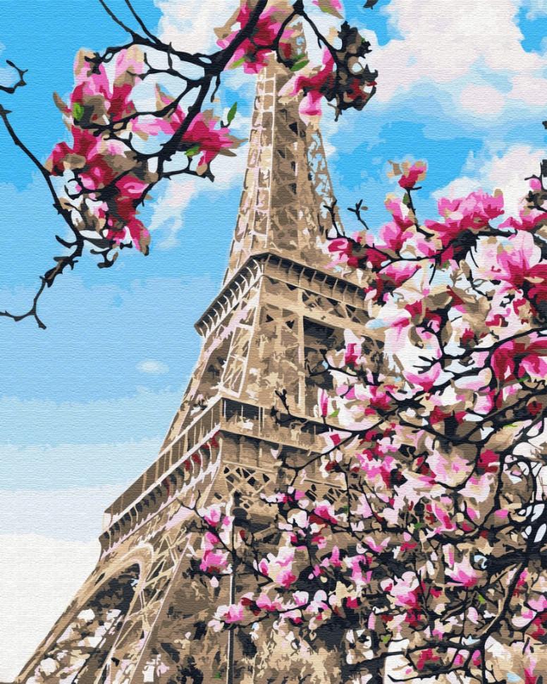 Картина за номерами Brushme Цвітіння магнолій в Парижі GX32320