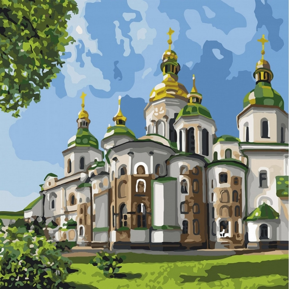 Картина по номерам Идейка София Киевская 30х30см KHO2832