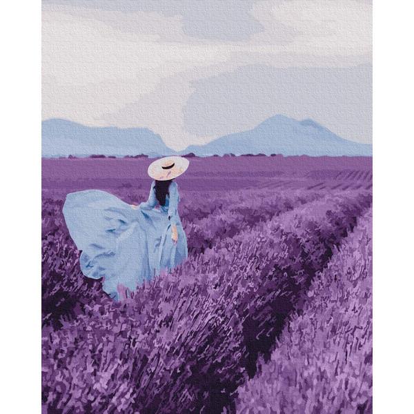 Картина за номерами Brushme Прогулянка по лавандовому полю GX25441