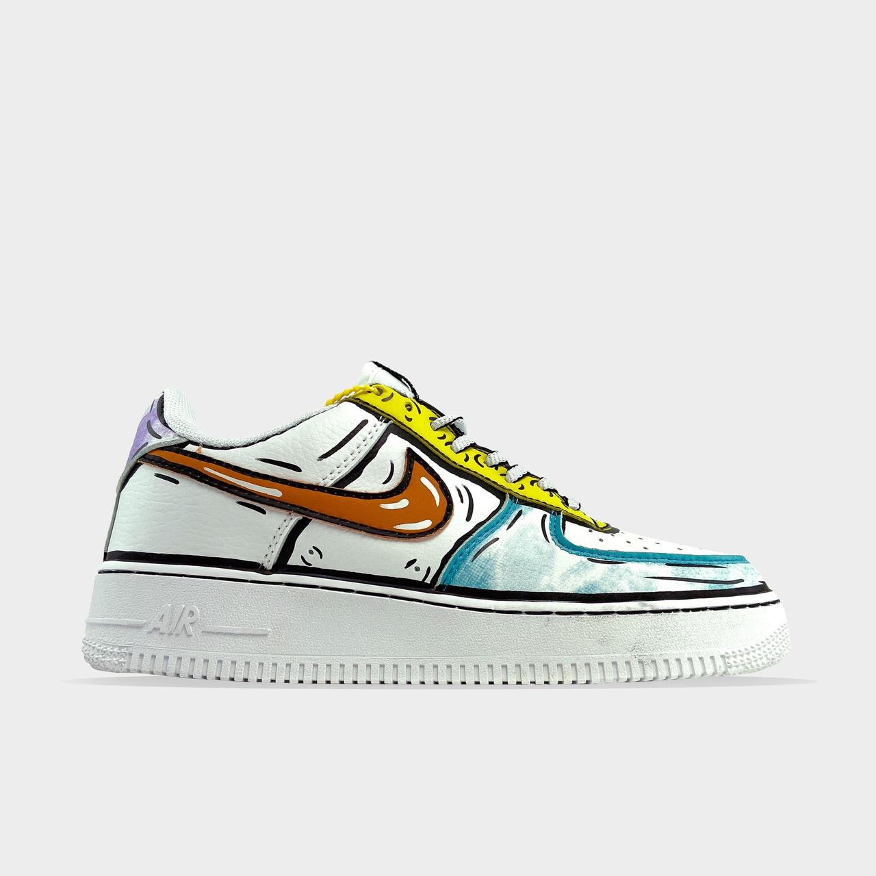 Nk, крос, обувь, взуття, sneakers, шузы, Air Force 1 Comics Verde (Белый)