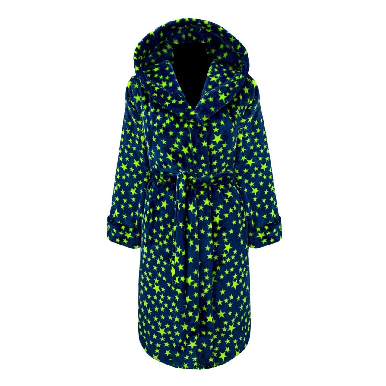 Махровый подростковый халат в звёздах с 36 по 46 размер