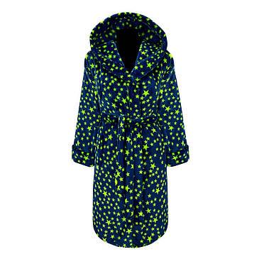 Махровый подростковый халат в звёздах с 36 по 46 размер, фото 2