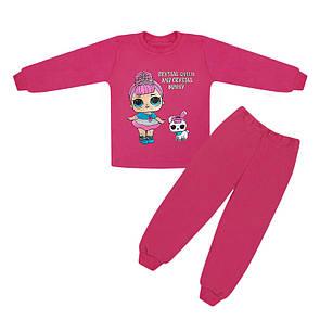 Яскрава дитяча піжама для дівчинки з принтом ЛОЛ інтерлок-начісування