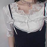 Прикраса люкс на шию з цирконами, чокер кольє, можна одягнути як фероньеру, фото 6