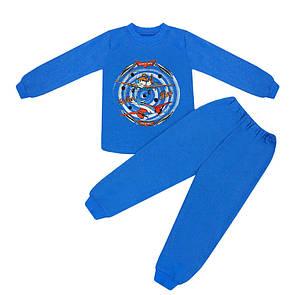 Дитяча піжама для хлопчика Літаки інтерлок-начісування