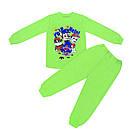 Стильна дитяча піжама для хлопчика Щенячий патруль інтерлок-начісування, фото 2