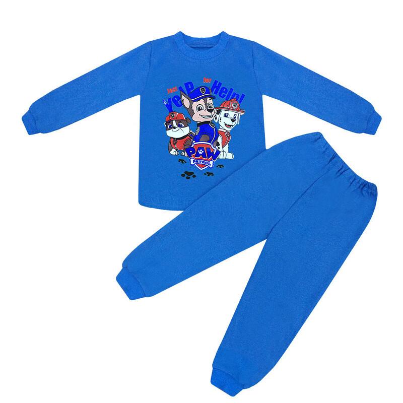 Стильна дитяча піжама для хлопчика Щенячий патруль інтерлок-начісування