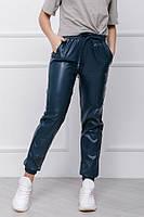Женские кожаные штаны-джоггеры  весна новинка 2021, фото 1