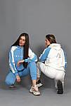 Женский спортивный костюм, турецкая двунить, р-р 42-44; 46-48 (голубой), фото 5
