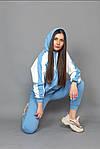 Женский спортивный костюм, турецкая двунить, р-р 42-44; 46-48 (голубой), фото 3