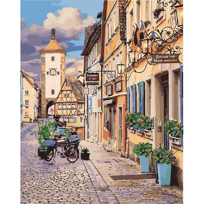 Картина за номерами ІДЕЙКА Казкова Баварія 40х40см KHO3540