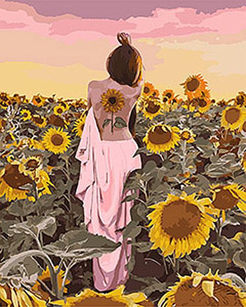 Картина по номерам Идейка Подсолнечное счастье 40х50см KHO4570