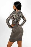 """Коктейльное платье MasModa """"Лео"""" полуприлегающее мини (5 цветов, р.S-XL), фото 2"""